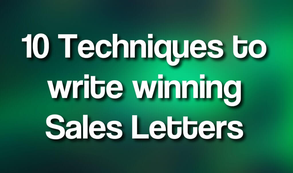 10 Techniques to Writing Your Sales Page